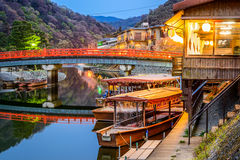Río de Uji en Kyoto Japón foto de archivo libre de regalías