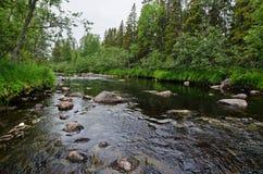 Río de Unduksa (Rusia) Imagen de archivo