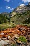 Río de Unha. Aran Valley, los Pirineos, España Imagenes de archivo