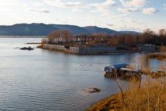 Río de Volga cerca del Samara Fotos de archivo libres de regalías