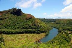 Río de Wailua en Kauai Fotos de archivo libres de regalías