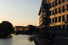 Río de Weser en Bremen Imágenes de archivo libres de regalías