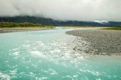 Río de Whataroa - costa oeste Imagen de archivo libre de regalías