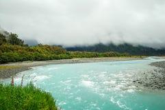 Río de Whataroa - costa oeste Fotografía de archivo