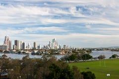 Río de Wth de la ciudad Imagen de archivo