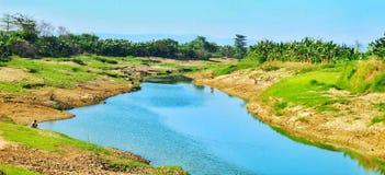 Río de Wulan - Tanggulangin Kudus Fotos de archivo