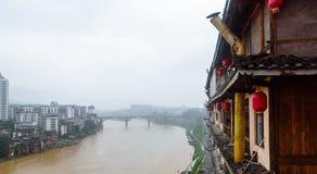Río de Xunjiang Foto de archivo
