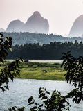 Río de Yangshuo y de Li Imagen de archivo libre de regalías