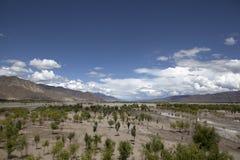Río de Yarlung Zangbo (Brahmaputra) Imagenes de archivo