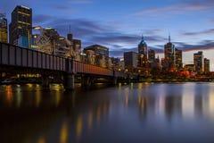 Río de Yarra, Melbourne Imágenes de archivo libres de regalías