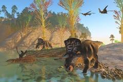 Río de Zuniceratops ilustración del vector