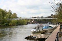 Río Dee en Chester foto de archivo