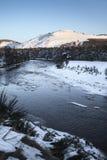 Río Dee In Winter Imagen de archivo