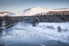 Río Dee In Winter Imágenes de archivo libres de regalías