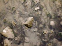 Río del agua baja fotografía de archivo