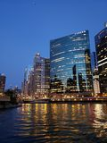 Río del barco de Chicago imagen de archivo libre de regalías