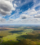 Río del bosque, visión superior Fotografía de archivo