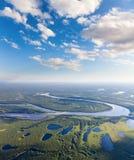 Río del bosque, visión superior Fotografía de archivo libre de regalías