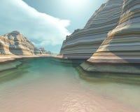 Río del cañón libre illustration