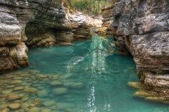 Río del cañón de Maligne foto de archivo libre de regalías