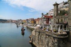 Río del Duero en Oporto, Portugal fotos de archivo libres de regalías