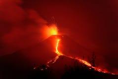 Río del fuego Foto de archivo libre de regalías