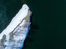 Río del hielo con el quadrocopter Imagen de archivo libre de regalías