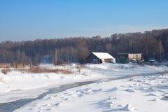 Río del invierno Imagen de archivo