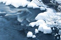 Río del invierno Fotos de archivo libres de regalías