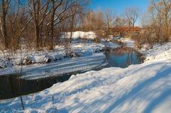 Río del invierno Imagenes de archivo