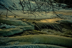 Río del invierno Fotografía de archivo