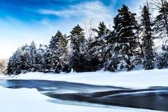 Río del invierno Foto de archivo libre de regalías