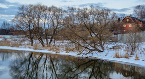 Río 2 del invierno imágenes de archivo libres de regalías