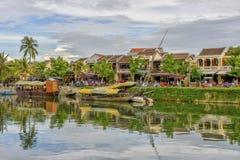 Río del ² n de Thu BÃ en Hoi An, Vietnam Fotografía de archivo