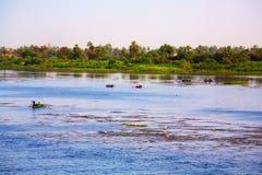 Río del Nilo, Egipto Imagen de archivo libre de regalías