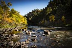 Río del oeste de Poudre del La del escondrijo Foto de archivo