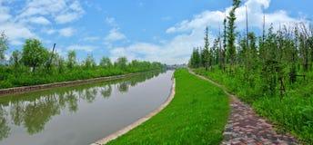 Río del paisaje Fotografía de archivo