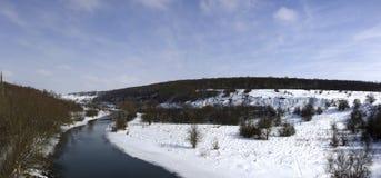 Río del panorama Foto de archivo