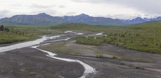 Río del parque nacional de Denali Fotos de archivo libres de regalías