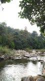 Río del pueblo de Kiriwong fotografía de archivo libre de regalías