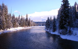 Río del sacerdote en el lago Idaho del sacerdote Imagen de archivo libre de regalías