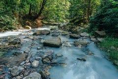 Río del sulfuro de hidrógeno Foto de archivo