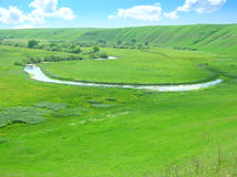 Río distante Foto de archivo libre de regalías