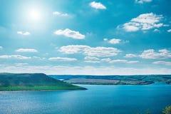 Río Dniéster en Bakota Fotografía de archivo libre de regalías