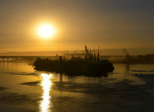 Río Don Puesta del sol y sombras Fotos de archivo