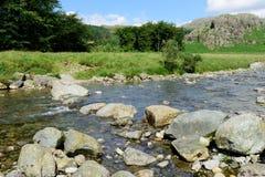 Río Duddon en Cumbria Imágenes de archivo libres de regalías