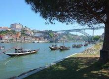 Río Duoro en Oporto Fotografía de archivo