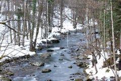 Río durante invierno Imagenes de archivo