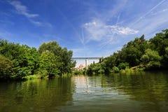 Río Dyje, Znojmo Fotografía de archivo libre de regalías