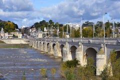 Río el Loira en los viajes en Francia imágenes de archivo libres de regalías